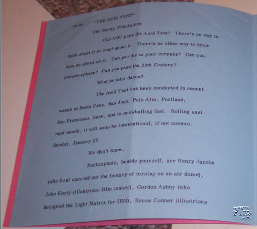 Inside Pages announcing the Acid Test