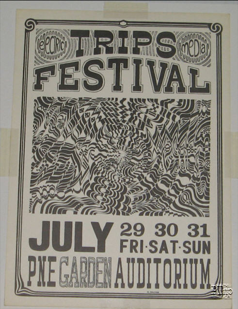 Poster for the PNE Garden Trips Festival - July 1966